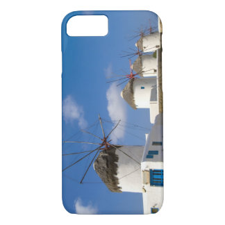 Beautiful windmills on the island of Mykonos, iPhone 7 Case