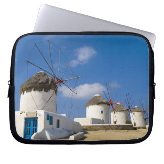 Beautiful windmills on the island of Mykonos, Laptop Sleeve