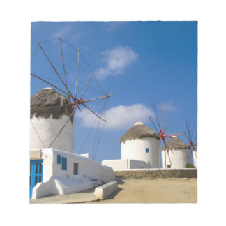 Beautiful windmills on the island of Mykonos, Memo Note Pads