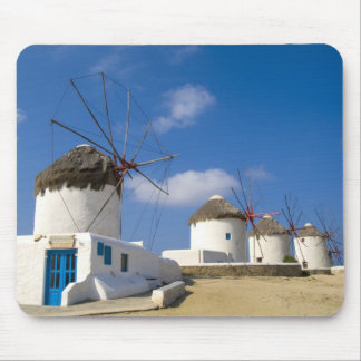 Beautiful windmills on the island of Mykonos, Mouse Pad