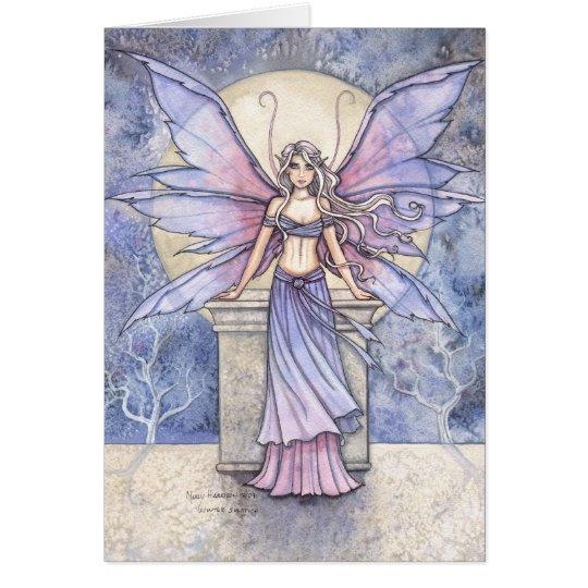 Beautiful Winter Fairy Card by Molly Harrison
