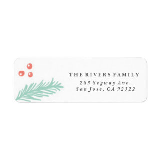 Beautiful Winter Frame Holiday Label
