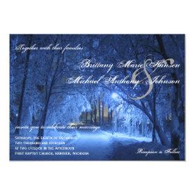 Beautiful Winter Holiday Snow Wedding Invitations 4.5