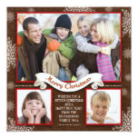 "beautiful winter holidays greetings photo cards 5.25"" square invitation card"