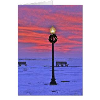 Beautiful Winter Lamp Post in LBI Card