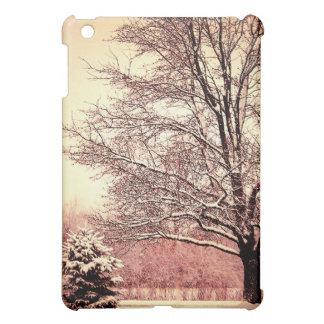 Beautiful winter landscape cover for the iPad mini
