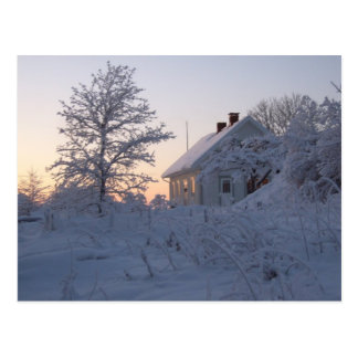 Beautiful winter landscapes post card