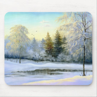 Beautiful Winter Painting Mouse Pad
