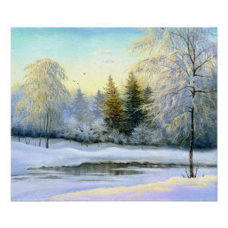Beautiful Winter Painting Poster