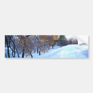 Beautiful winter season car bumper sticker