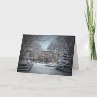 Beautiful Winter Snow Holiday Greeting Card
