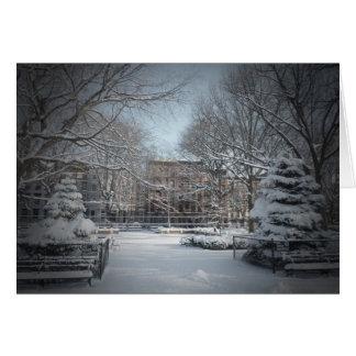 Beautiful Winter Snow Holiday Greeting Card