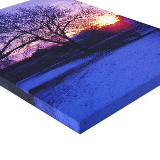 Beautiful Winter Sunrise in Missouri Canvas Print