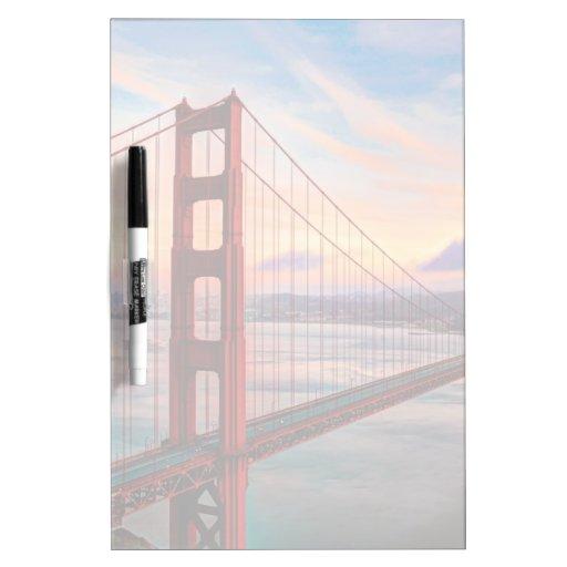 Beautiful winter sunset at Golden Gate Bridge Dry Erase Board
