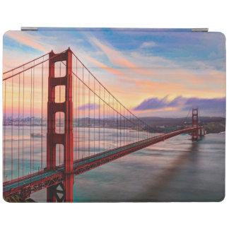 Beautiful winter sunset at Golden Gate Bridge iPad Cover