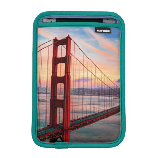 Beautiful winter sunset at Golden Gate Bridge iPad Mini Sleeve