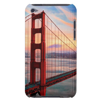 Beautiful winter sunset at Golden Gate Bridge iPod Touch Cover