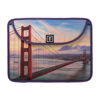 Beautiful winter sunset at Golden Gate Bridge MacBook Pro Sleeve