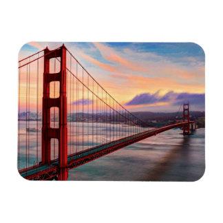 Beautiful winter sunset at Golden Gate Bridge Magnet
