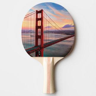 Beautiful winter sunset at Golden Gate Bridge Ping-Pong Paddle