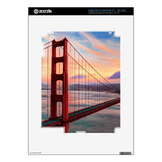 Beautiful winter sunset at Golden Gate Bridge Skin For iPad 3