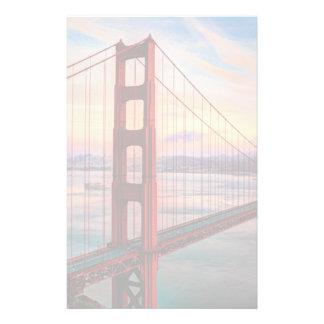 Beautiful winter sunset at Golden Gate Bridge Stationery