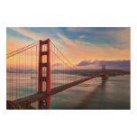 Beautiful winter sunset at Golden Gate Bridge Wood Wall Art