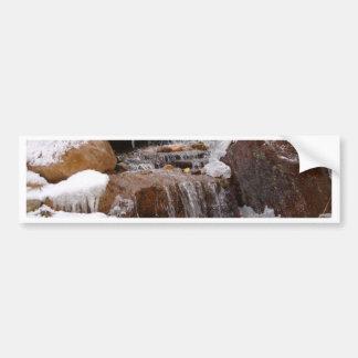 beautiful winter waterfall bumper sticker