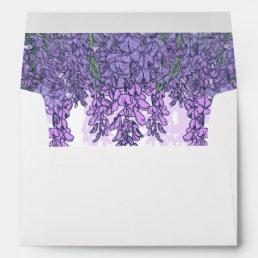 Beautiful Wisteria Garden Envelope