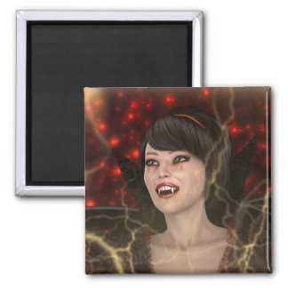 Beautiful Witch 2 Inch Square Magnet