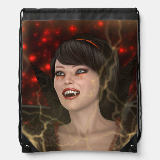 Beautiful Witch Drawstring Bag