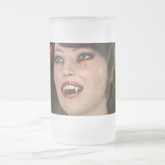 Beautiful Witch Frosted Glass Beer Mug