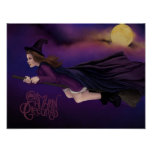 Beautiful Witch Painting Samhain Poster