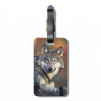 Beautiful Wolf Bag Tag
