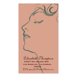 Beautiful Woman Business or Name Card Double-Sided Standard Business Cards (Pack Of 100)