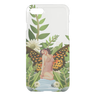 Beautiful Woman Butterfly Wings Clearly Phone Case