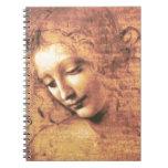 Beautiful Woman by Leonardo da Vinci Spiral Note Book