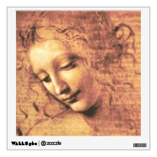 Beautiful Woman by Leonardo da Vinci Wall Sticker