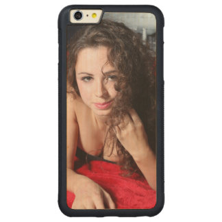 Beautiful Woman Carved Maple iPhone 6 Plus Bumper Case