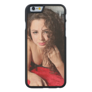 Beautiful Woman Carved Maple iPhone 6 Slim Case