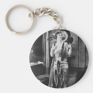 Beautiful Woman Flapper Dress 1920s Keychain