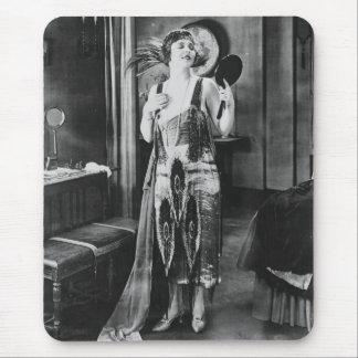 Beautiful Woman Flapper Dress 1920s Mouse Pad