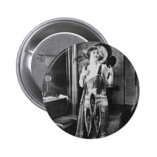 Beautiful Woman Flapper Dress 1920s Pinback Button