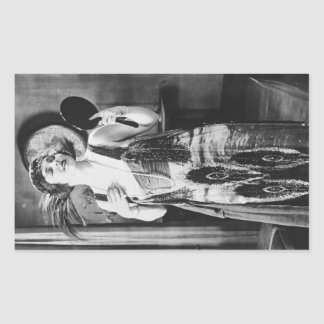 Beautiful Woman Flapper Dress 1920s Sticker