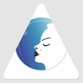 Beautiful woman in a droplet stickers