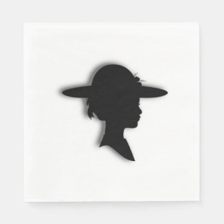 Beautiful Woman In Picture Hat Paper Napkin