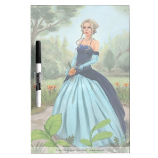 Beautiful Woman In Victorian Dress Illustration Dry-Erase Board