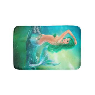 Beautiful woman mermaid fantasy Bath Mat