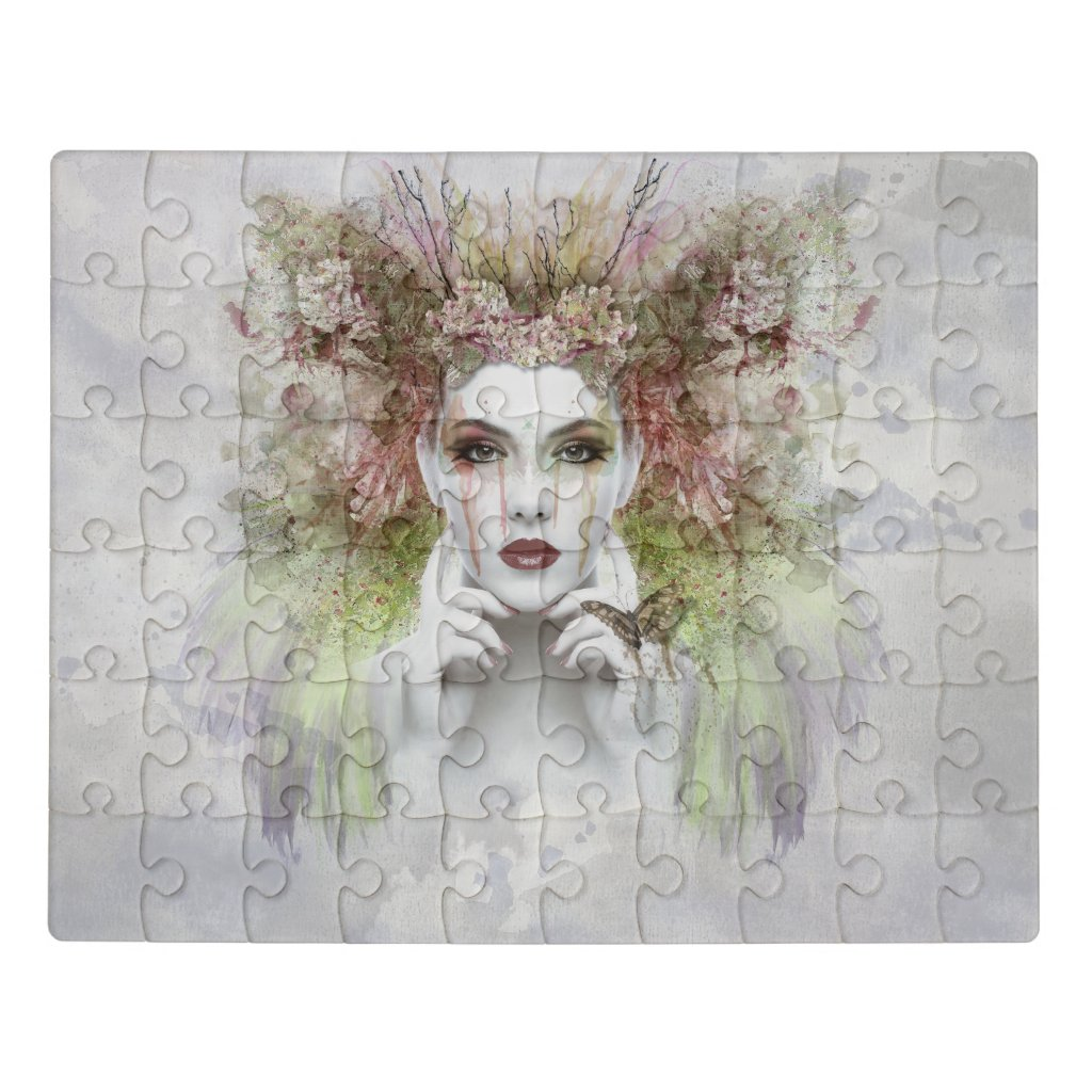 Beautiful Woman of the Woods Jigsaw Puzzle