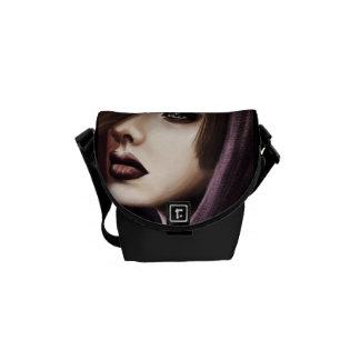 Beautiful Woman Portrait Digital Art Courier Bags
